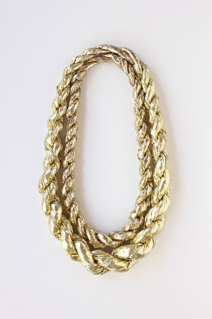 Large cs gold rope necklace web